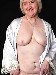 Sexy older granny striptease