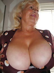 Lusty older cougar puts on hot underwear
